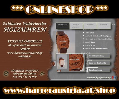 Harrer Austria :: Exklusive Waldviertler Holzuhren